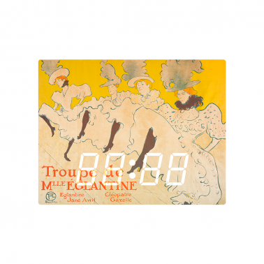 [LED CLOCK] La Troupe de Mademoiselle Eglantine, 1896 명화 벽시계 이미지