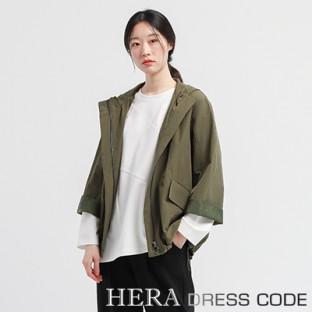 [보니스팍스] HERA DRESS CODE 포켓 포인트 후디 점퍼 이미지