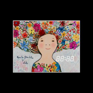 [WALL CLOCK] Full of flowers 명화 벽시계 이미지