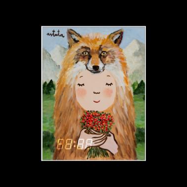 [WALL CLOCK] Fox 명화 벽시계 이미지