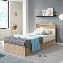 [데코라인] 라떼 침대(SS) 마루형 프레임 이미지