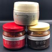서울대학교 된장 맑은손맛 저염된장 3종세트 (저염된장,찹쌀고추장,쌈장) 이미지
