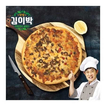[김이박]이경규의 돌판오븐피자 450g 4개세트 (콤비2/불고기2) 이미지