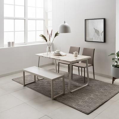 [현대리바트]브로슈 4인 마블 대리석 식탁세트