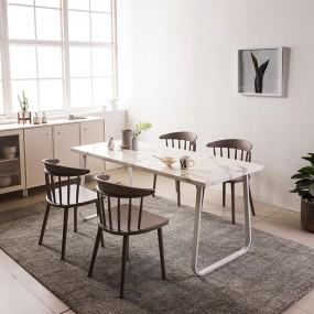 [현대리바트]브로슈 6인 마블 대리석 식탁세트 이미지