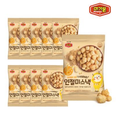[머거본] 우리쌀로 만든 가족간식 인절미스낵 37g x10봉 이미지