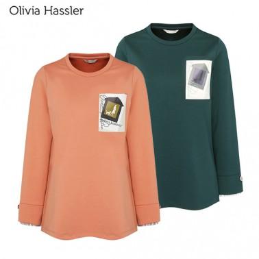 [올리비아하슬러] 여성 프린트 레이어드 티셔츠 (OH0STS203) 이미지