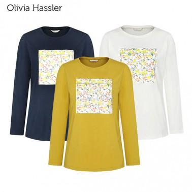 [올리비아하슬러] 여성 라운드넥 프린트 티셔츠 (OH0STS901) 이미지