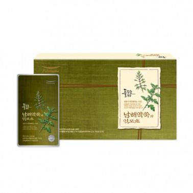 [풀무원건강즙]남해약쑥과 익모초 <br> 120ml x 30포 / 1박스,  총 3.6kg, 선물세트포장 이미지