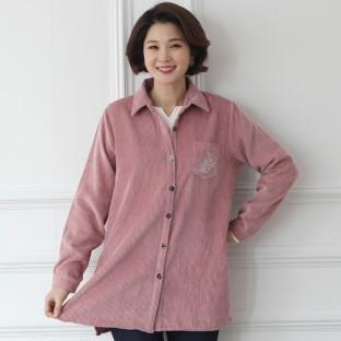 [바네사리찌] 봄 신상품! 코듀로이 셔츠형 자켓 이미지