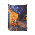 [FABRIC POSTER] Terrace of a cafe at night