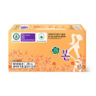 [유기농본] 생리대 소형 28P X 24팩 (1박스) 이미지