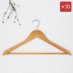 마켓비 RODNEY 원목옷걸이 일반형 10팩 KS1016/LDR 이미지