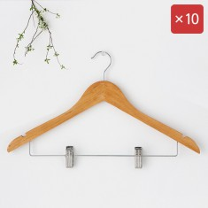 마켓비 RODNEY 원목옷걸이 집게형 10팩 KS1017/LDR 이미지