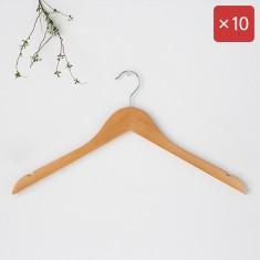 마켓비 RODNEY 원목옷걸이 오픈형 10팩 KS1018/LDR 이미지