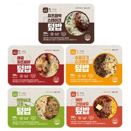 [퀵앤밀] 든든한끼 간편한 덮밥 5종 세트 소불고기/간장새우/직화삼겹/치즈불닭/함박