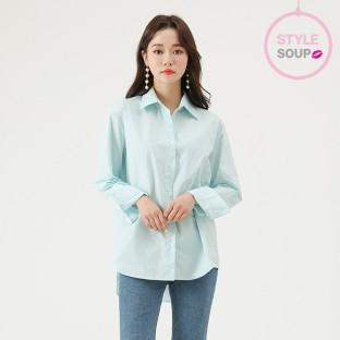 [SOUP] 오버핏 컬러 베이직 셔츠 이미지