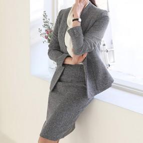 [더웨이나인] 커리어우먼 보카시 여자 오피스룩 여성정장치마 이미지