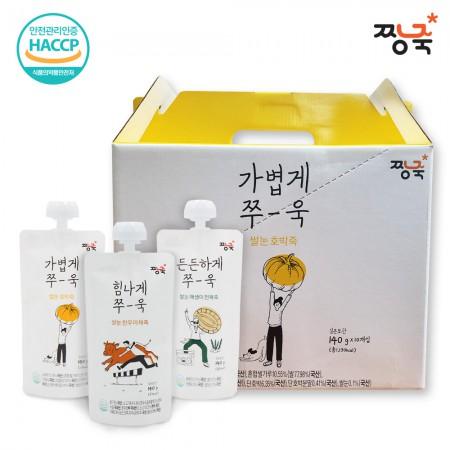 [짱죽] 쌀눈웰빙 스파우트죽 10봉(1box) /호박죽 한우야채죽 매생이전복죽