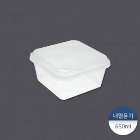 [패킹콩] 사각내열용기 (TSQ-650) 50개 이미지