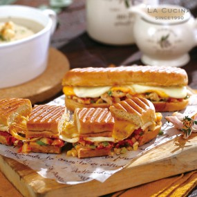 이탈리아별미! 라쿠치나 파니니 샌드위치<br> (치즈맛2팩 + 치킨맛2팩 + 불고기맛2팩)<br> 120g x 6팩 이미지