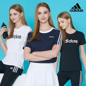 [아디다스] 2020NEW 여성 베이직 라인 로고 반팔티셔츠 3컬러중 택1 이미지