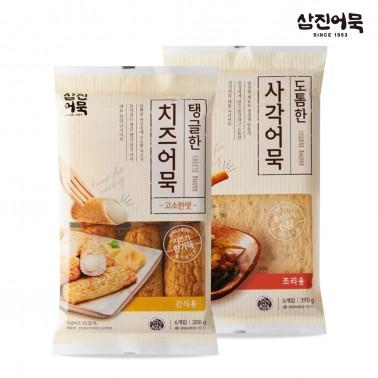 [삼진어묵] 탱글한 치즈어묵(고소한맛) + 도톰한 사각어묵 이미지
