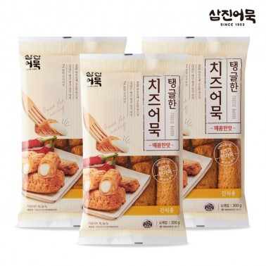 [삼진어묵] 탱글한 치즈어묵(매콤한맛) 300g x 3개 이미지