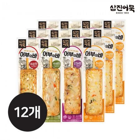 [삼진어묵] 어부의바 4종 x 3세트 (매운+야채+오징어+콘치즈)