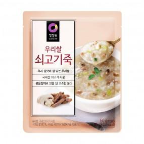 [아자마트] [청정원] 우리쌀 쇠고기죽 60g 이미지