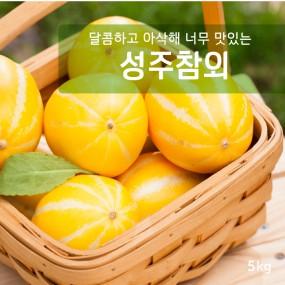 [가격인하]아삭달콤 과일친구 성주참외 5kg (20과내외) 이미지