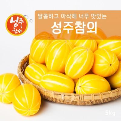 [가격인하]아삭달콤 과일친구 성주참외 5kg (26과내외)