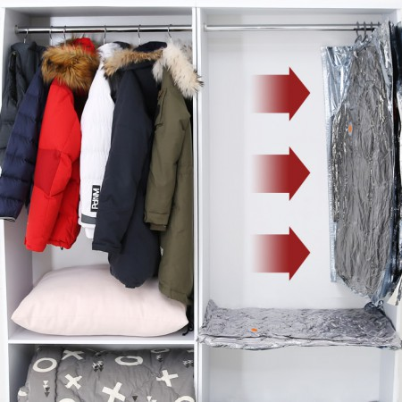 국산 와이즈 옷걸이 압축팩 클립형(대)2p 이미지