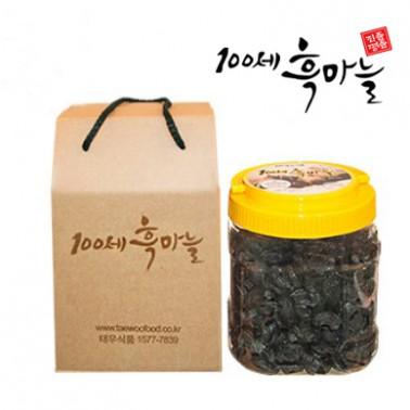 [태우식품] 면역력 UP! 쫀득쫀득!달콤한 맛! 100세 발효 깐흑마늘 1kg 이미지