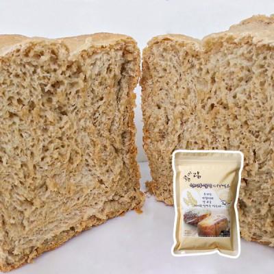 [현미그린]콩이랑 현미통밀빵 DIY믹스한봉  물만 있으면 맛있는 현미통밀식빵 탄생 1봉/2봉 구성 택1 이미지