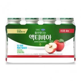 [아자마트] [풀무원] 액티비아 사과(병) 130ml*4개입 이미지