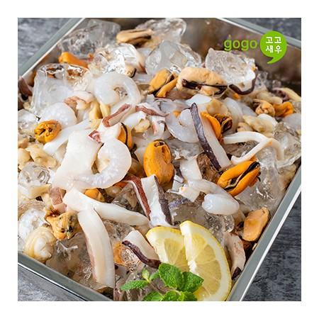 [고고새우]해물모듬 700g 손질, 냉동 ,해물믹스
