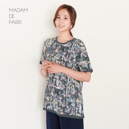 마담드파리 썸머 패턴 티셔츠