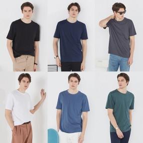 [베스트몬테인] 남성 썸머 오가닉100 티셔츠 6종 세트 (95,100) 이미지
