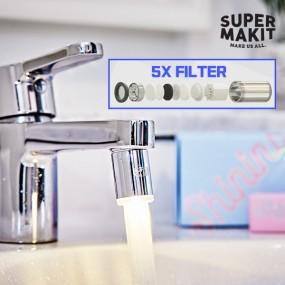 [슈퍼메이킷] 녹물 염소제거 깨끗한물 수전 수도꼭지용 샤이닝 LED 워터탭 이미지