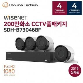 [와이즈넷] AIO 4채널 4카메라 CCTV세트 SDH-B73046BF 이미지