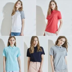 [르까프] 여성 쿨카라 티셔츠 5종 세트 이미지