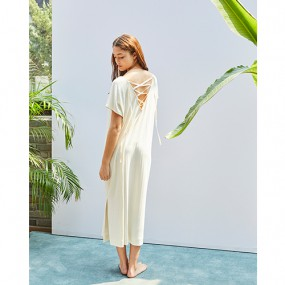 [THE MANSION x LAFETE] No.4 Ribbed Dress (ivory/beige) 이미지