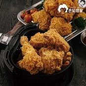[혼닭생활] 후라이드치킨 600g (뼈 치킨/순살치킨+치킨무+치킨소스) ★배달치킨 맛 그대로 재현★에어프라이어 간편조리 이미지
