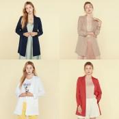 [AZA 소호패션] ◆자켓판매순위 1위◆ 여성 루즈핏 텐셀 자켓 (네이비55한정) 이미지