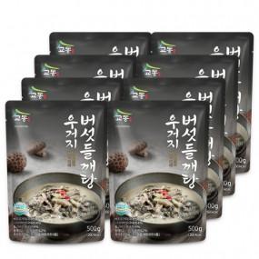 [교동식품] 교동 우거지버섯들깨탕 500g x 8팩(실온) 이미지