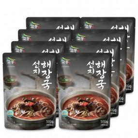[교동식품] 교동 선지해장국 500g x 8팩(실온) 이미지