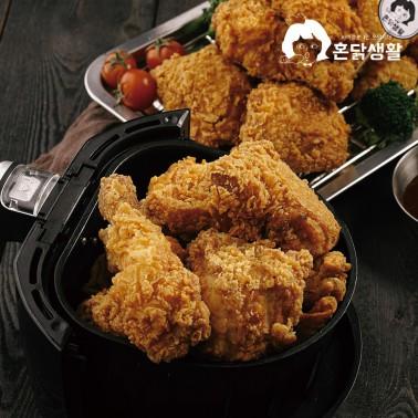 [복날맞이] 후라이드치킨 1마리(600g)(뼈 치킨/순살치킨) ♥배달치킨 맛 그대로 재현! 에어프라이어 간편조리♥ 이미지