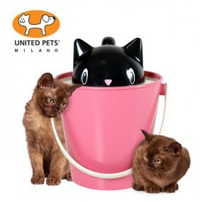 [유나이티드펫츠] 크릭 캣캡 사료통 앤 스쿱 고양이 이미지
