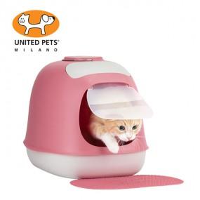 [유나이티드펫츠] 미누 파스텔 고양이 화장실&매트 세트 이미지